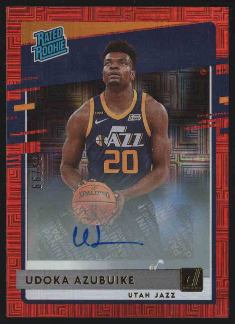 2020-21 Donruss Rated Rookies Signatures Choice Red Udoka Azubuike Rr #214 card front image