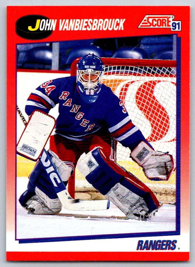 1991-92 Score Canadian Bilingual John Vanbiesbrouck #10 card front image