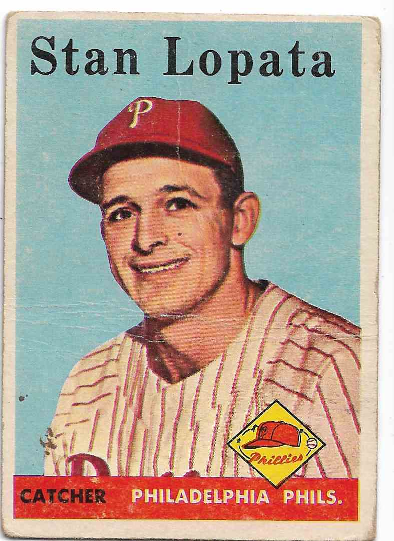 1958 Topps Stan Lopata #353 card front image