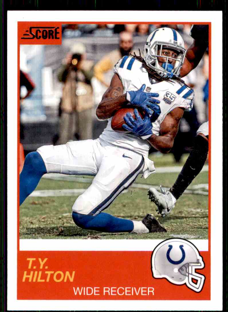 2019 Score T.Y. Hilton #54 card front image