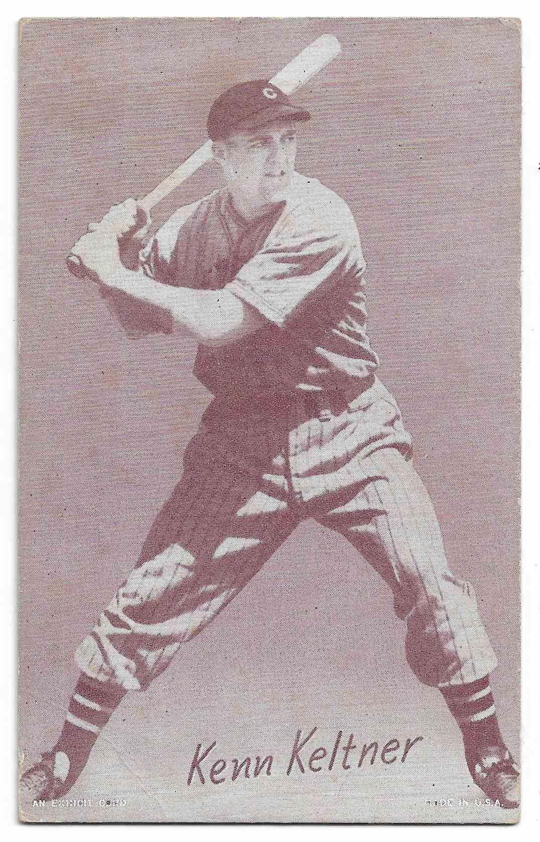 1947 Exhibits Kenn Keltner card front image