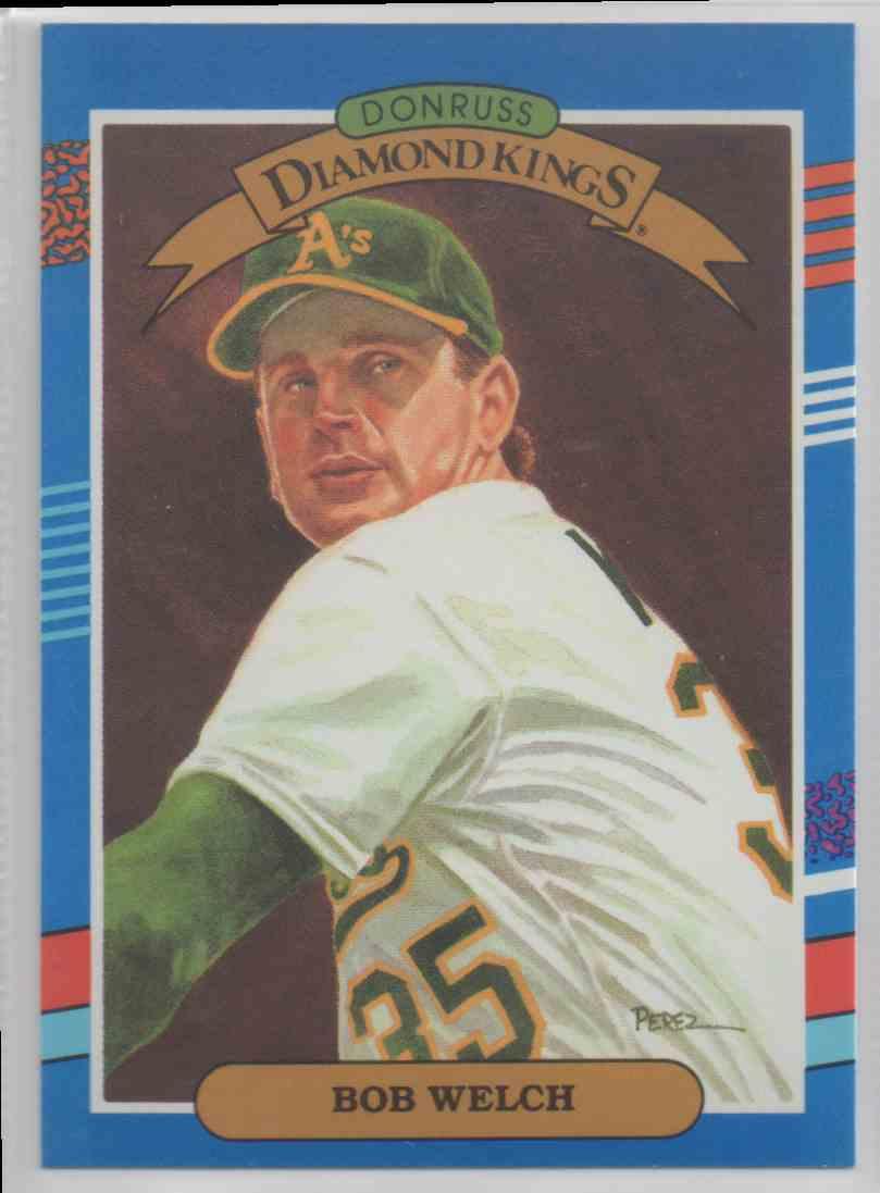 1991 Donruss Diamond Kings Bob Welch 20 On Kronozio