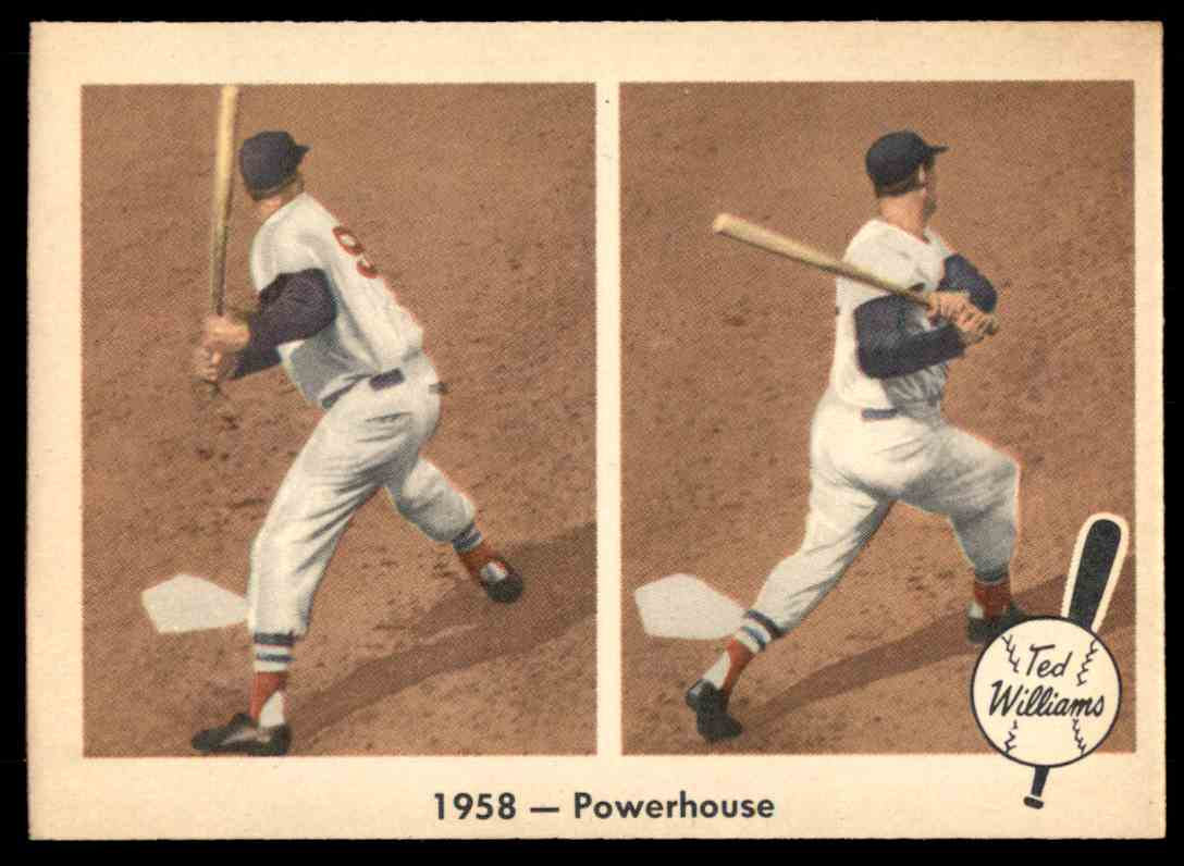 1959 Fleer Ted Williams 1958 - Powerhouse #66 card front image