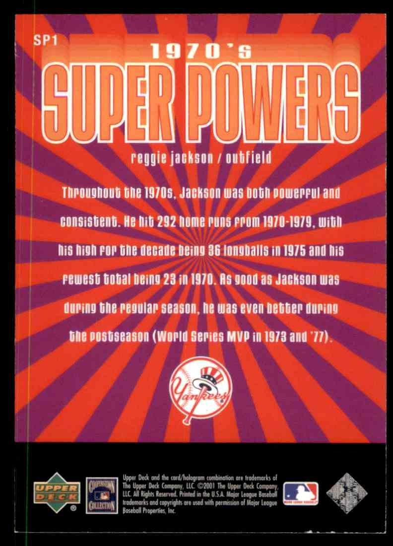 2001 Upper Deck Upper Deck 70s Super Powers Reggie Jackson