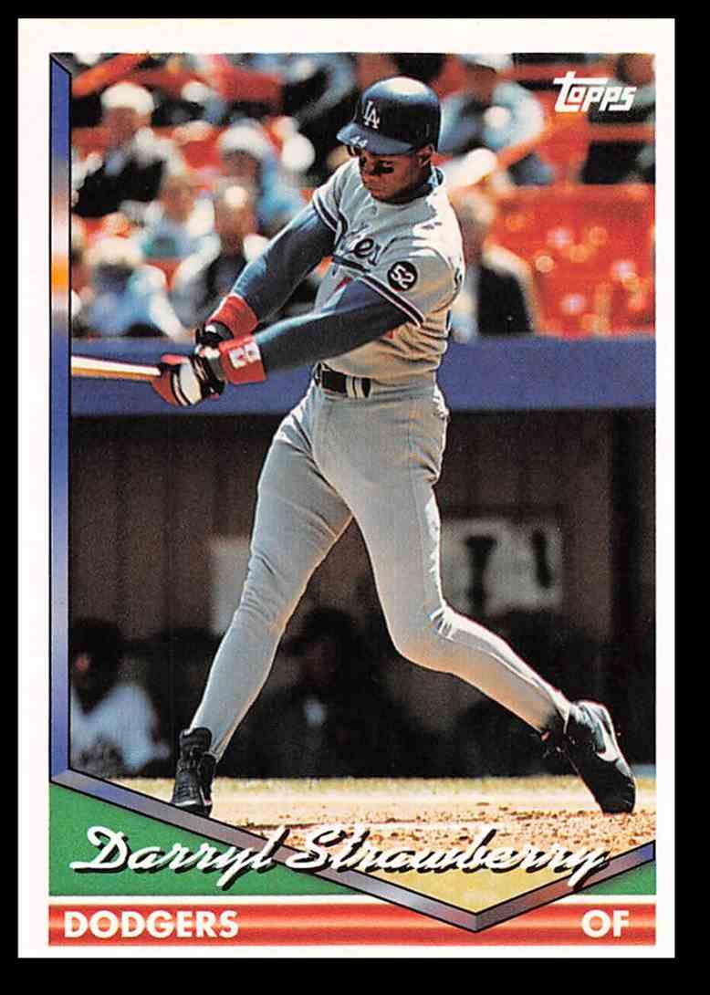 1994 Topps Baseball Darryl Strawberry 640 On Kronozio