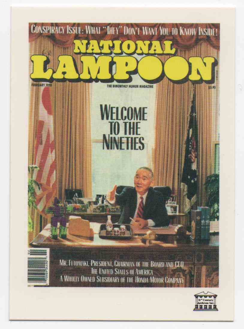 1993 National Lampoon February 1990 #95 card front image