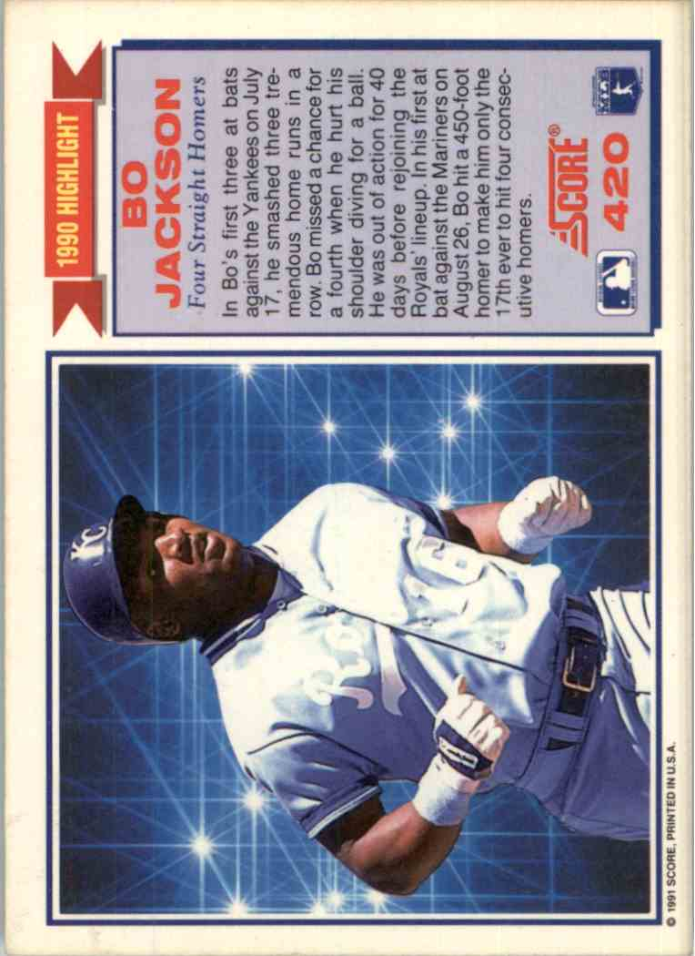 1991 Score 1990 Highlight Bo Jackson 420 On Kronozio