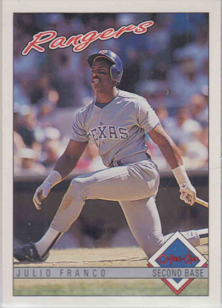 1993 O-Pee-Chee Julio Franco #73 card front image