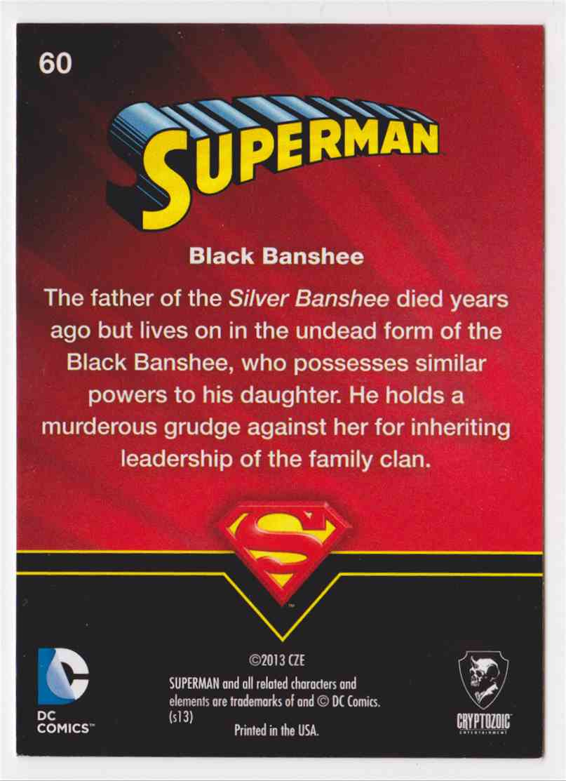 2013 Superman Cryptozoic Superman #60 card back image