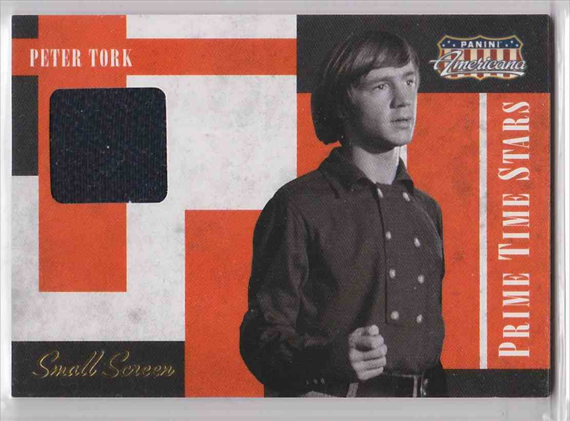 2011 Panini Americana Prime Time Star Small Screen Materials Peter Tork #6 card front image