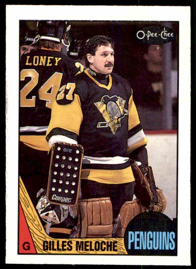 1987-88 O-Pee-Chee Gilles Meloche #107 card front image