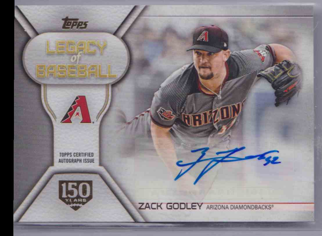 2019 Legacy Of Baseball Autograph 150th Anniversary Series 1 Zack Godley #LBA-ZG card front image