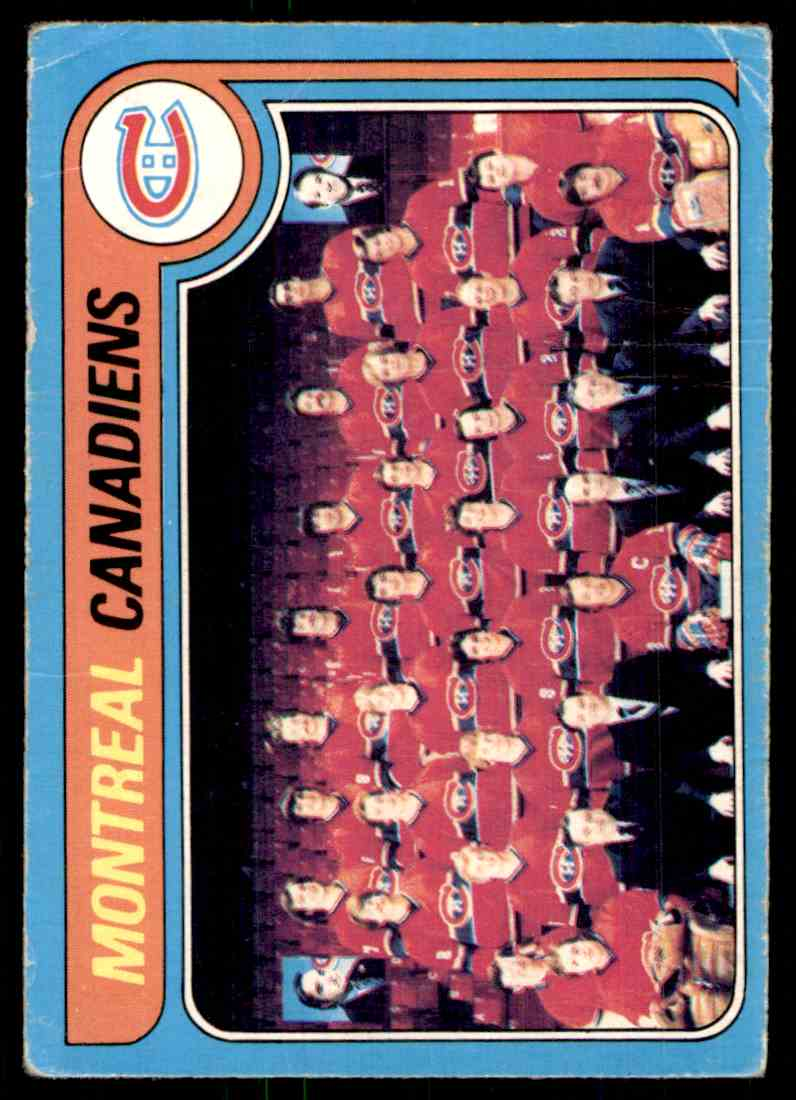 1979-80 O-Pee-Chee Canadiens Team #252 card front image