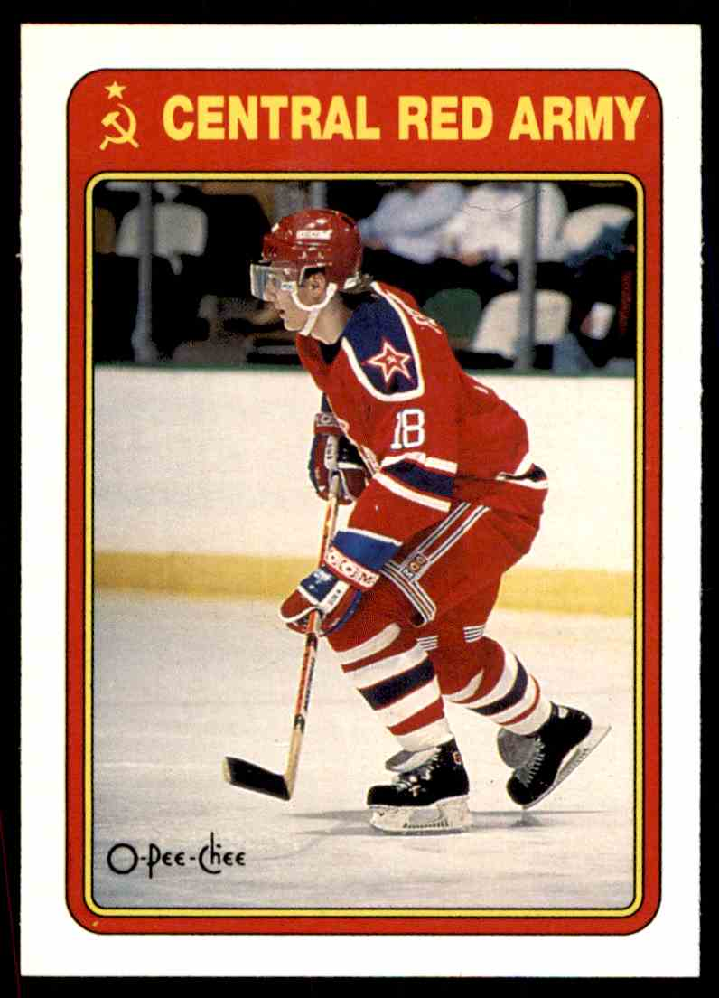 1990-91 O-Pee-Chee Red Army Sergei Fedorov #19R card front image