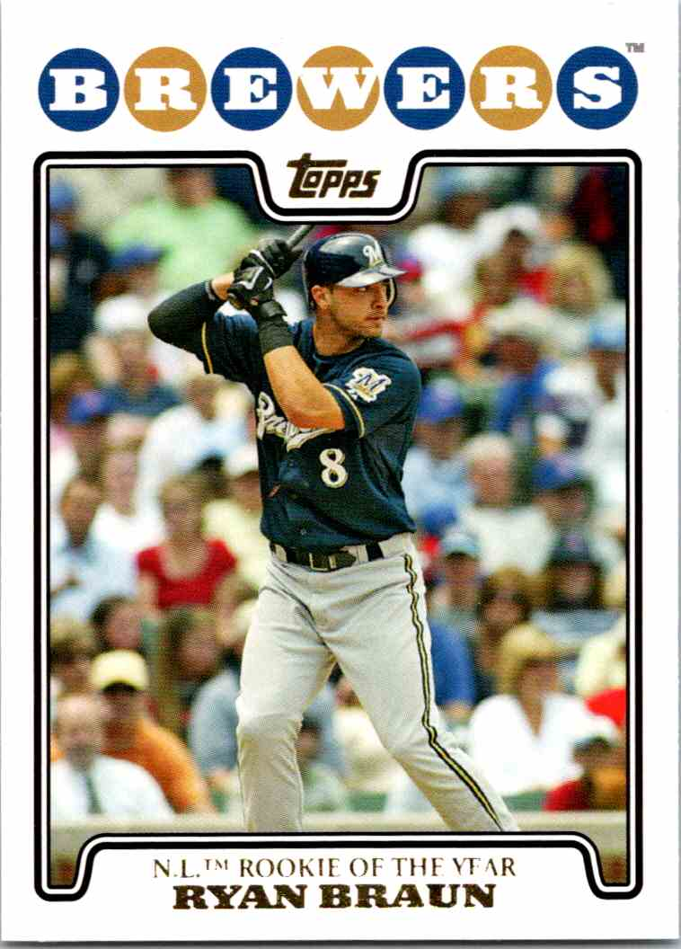 2008 Topps Gold Foil Ryan Braun 101 On Kronozio