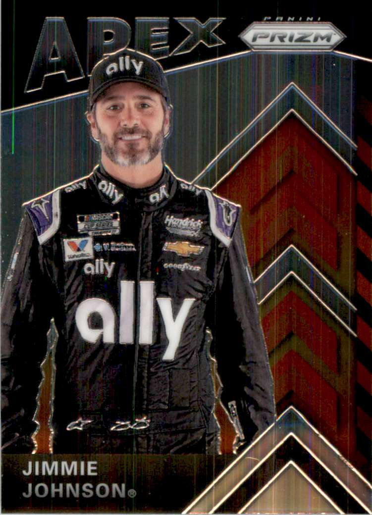 2020 Panini Prizm Apex Jimmie Johnson #A7 card front image