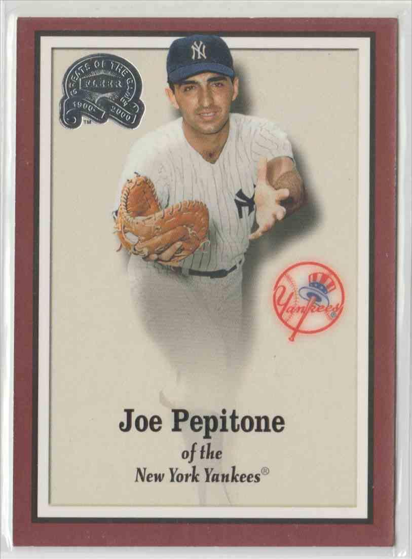 2000 Fleer Greats Of The Game Joe Pepitone 30 On Kronozio