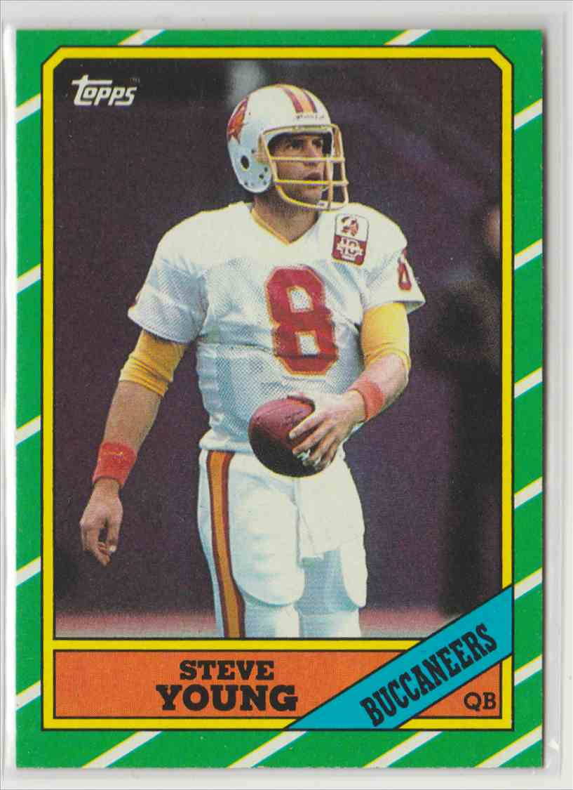 1986 Topps Steve Young #374 card front image