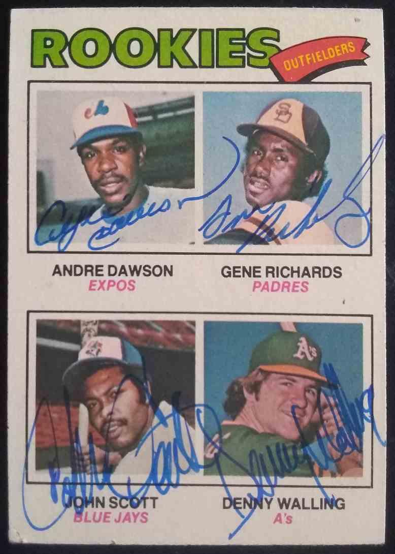 1977 Topps Andre Dawson Gene Richards John Scott Denny Walling #473 card front image