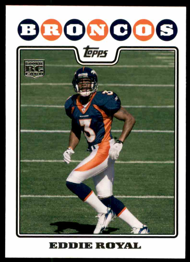 2008 Topps Eddie Royal RC #435 card front image