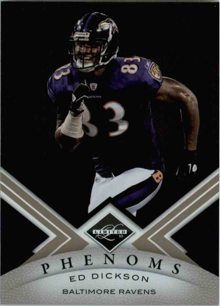 2010 Leaf Limited Phenoms Ed Dickson #169 card front image