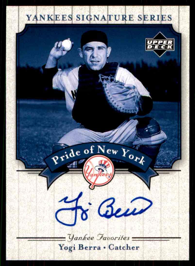 2003 Upper Deck Yankees Siganture Series Yogi Berra card front image