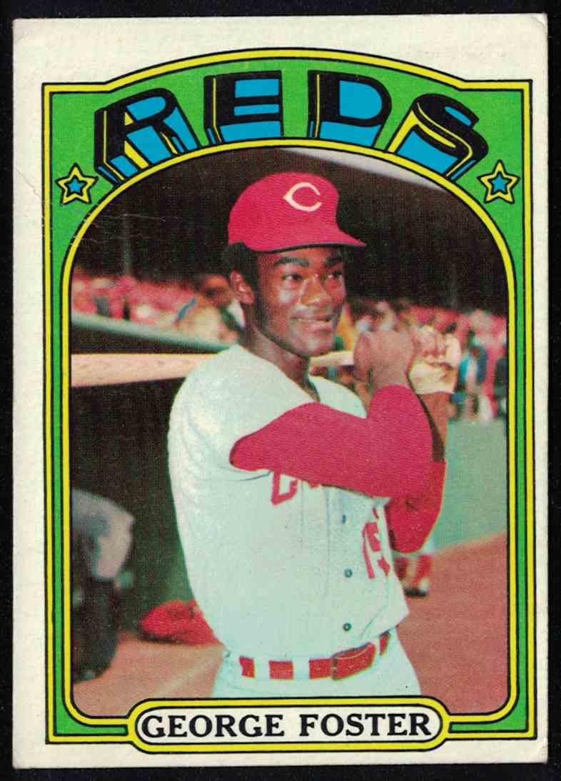 1972 Topps George Foster EX-MT #256 card front image