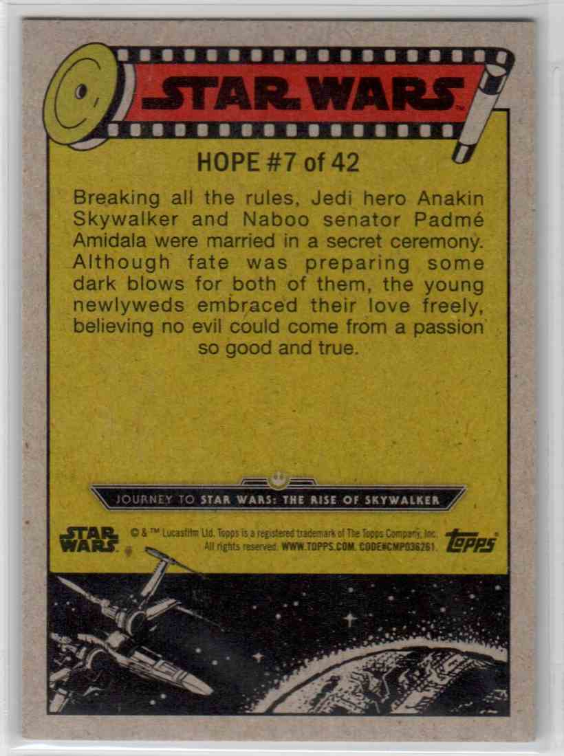 2019 Topps Star Wars Journey To Rise Of Skywalker Forbidden Union #7 card back image