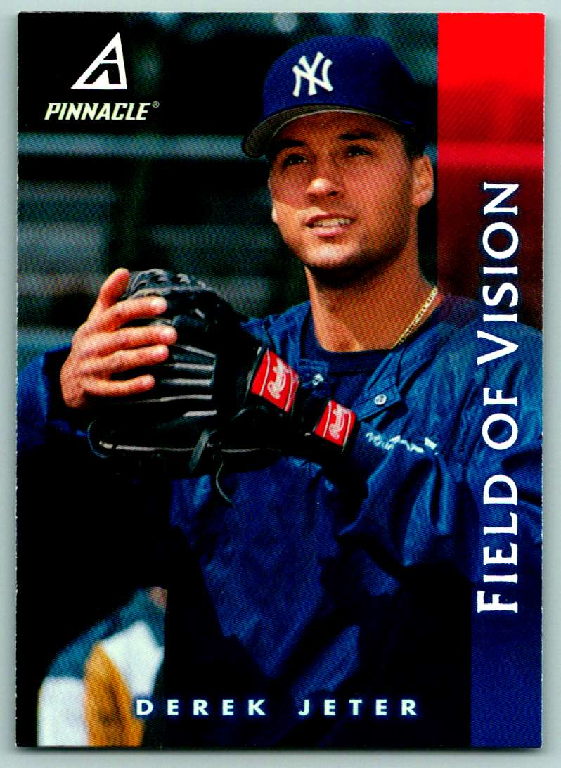 1997 Pinnacle Field Of Vision Derek Jeter #185 card front image