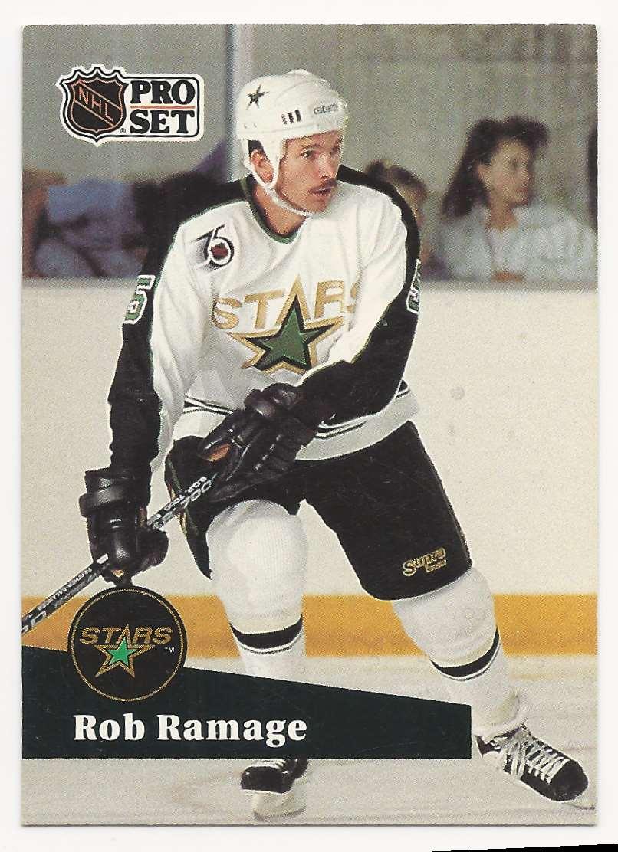 1991-92 Pro Set Rob Ramage #407 card front image