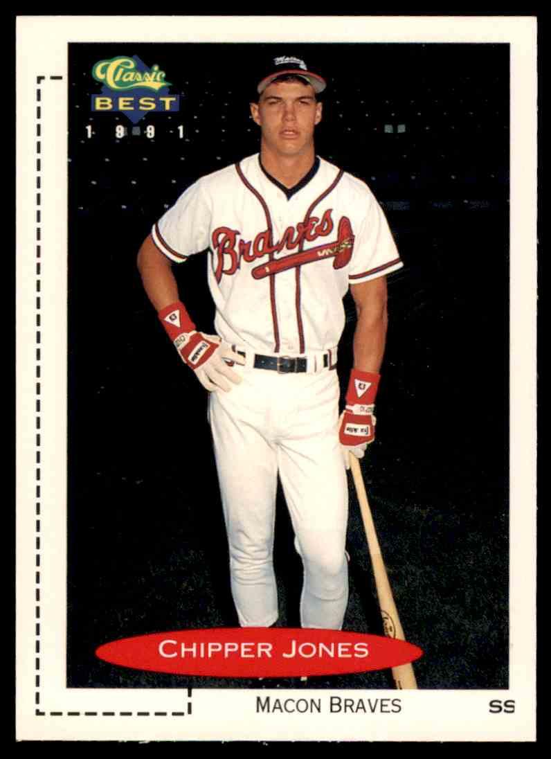 1991 Classic Best Minors Rookie Chipper Jones 268 On Kronozio