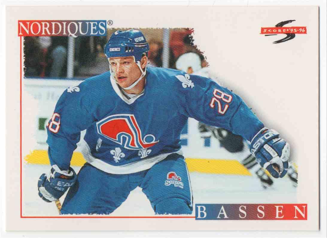 1995-96 Score Bob Bassen #216 card front image
