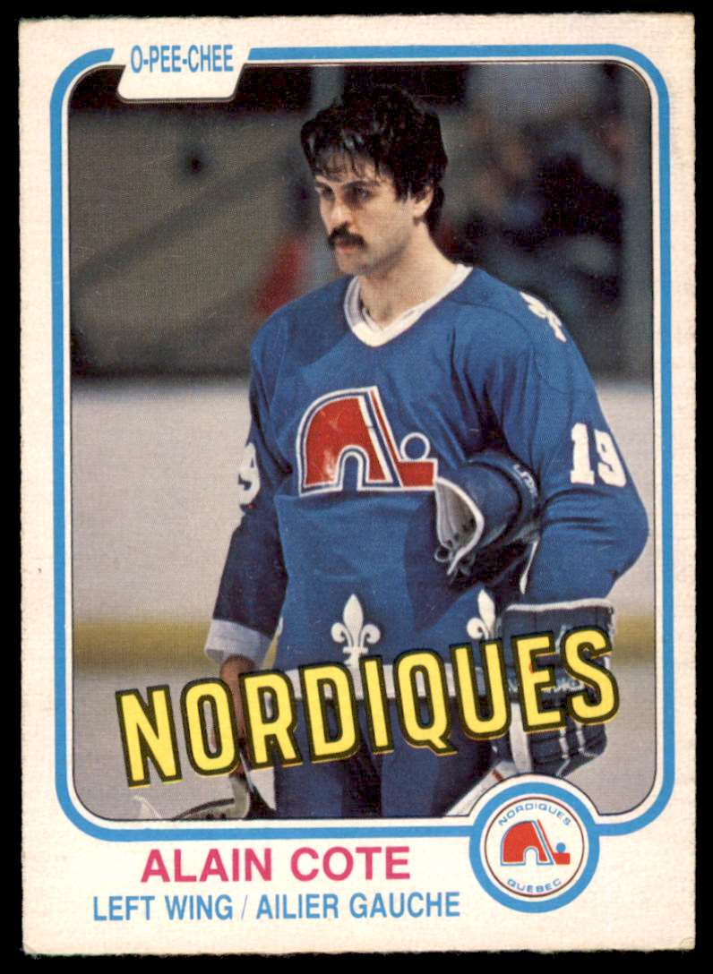 1981-82 OPC Alain Cote #272 card front image