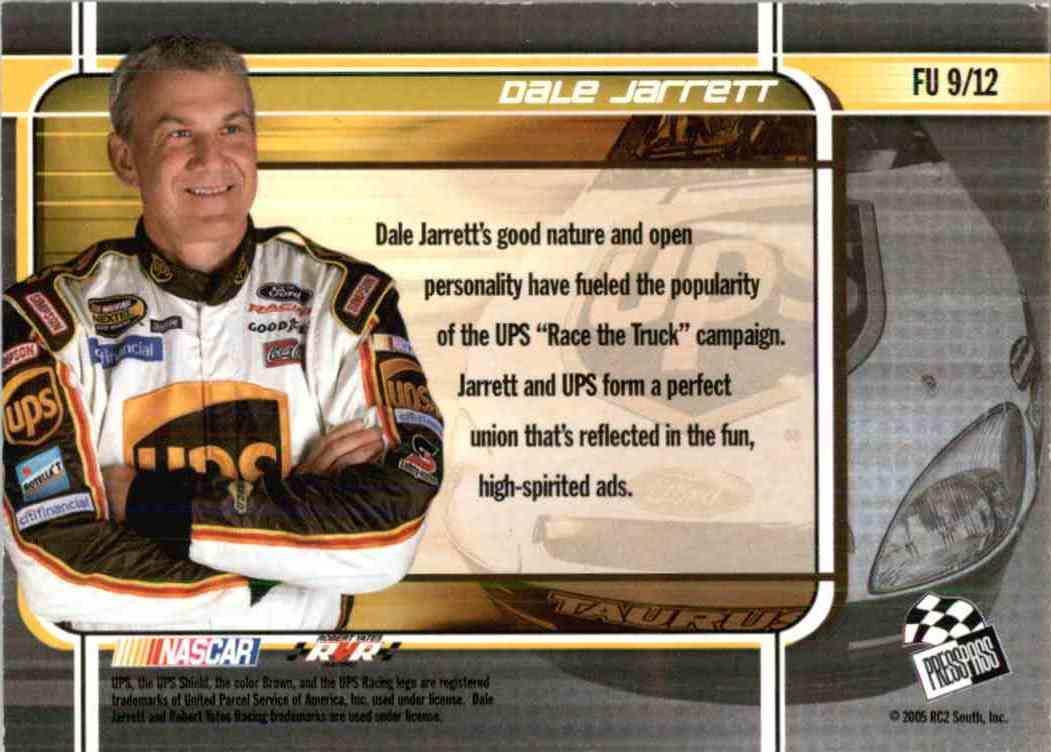2005 Press Pass Stealth Dale Jarrett #FU9 card back image