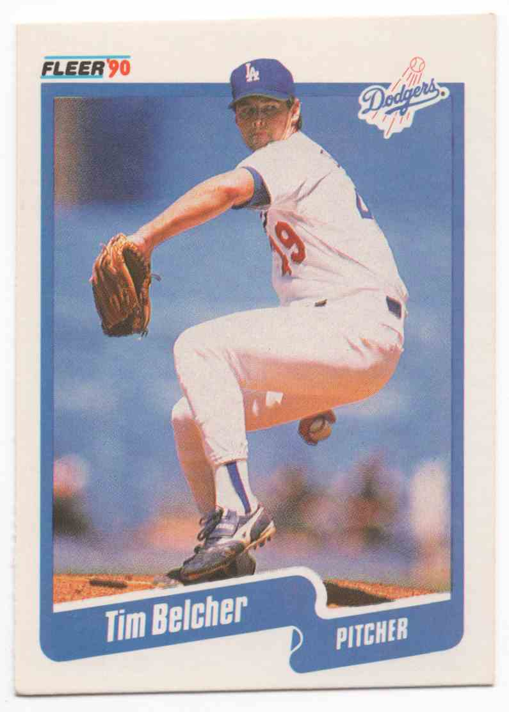 1990 Fleer Tim Belcher #389 card front image