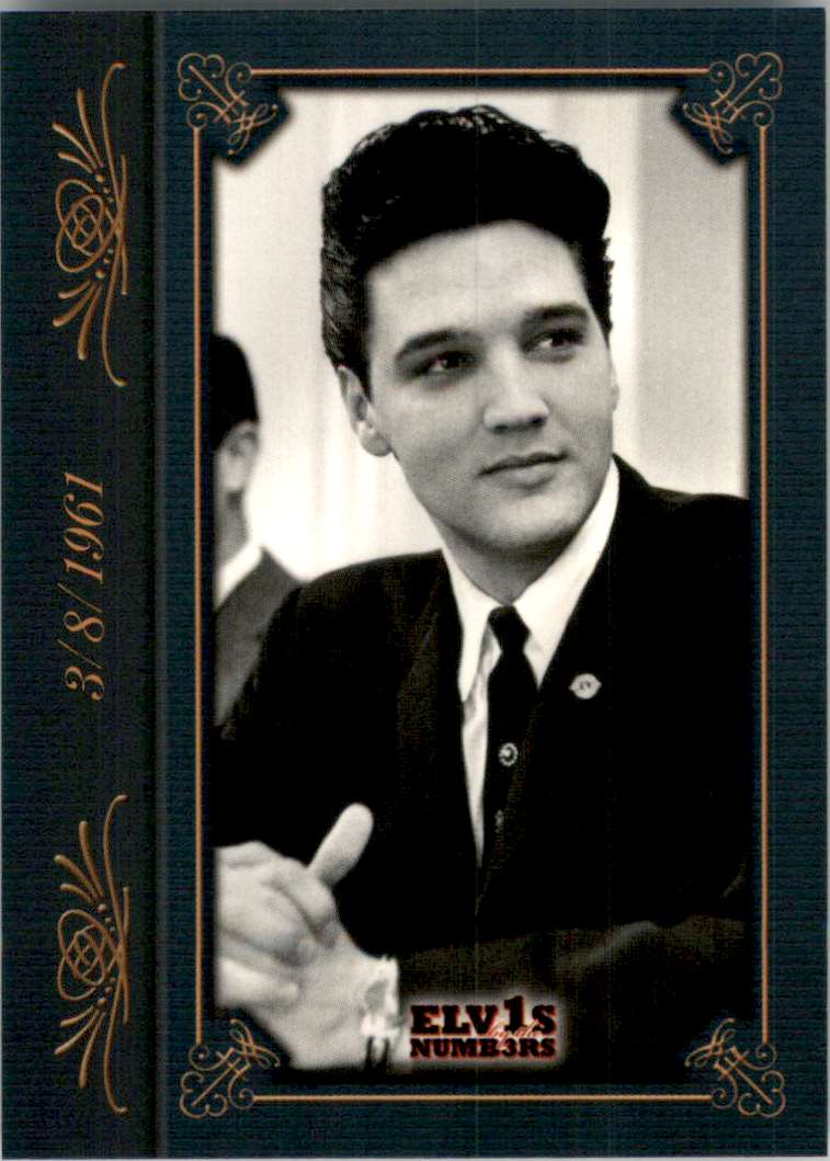 2008 Elvis By The Numbers 3/8/1961 #15 card front image