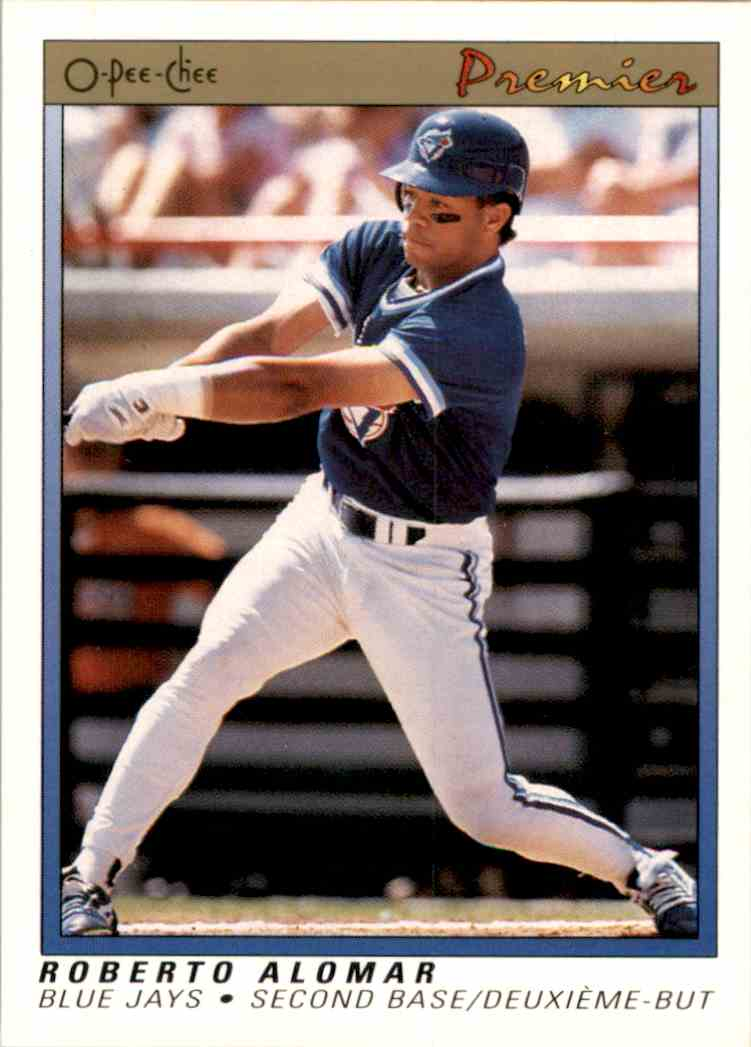 1991 O-Pee-Chee Premier Roberto Alomar #1 card front image