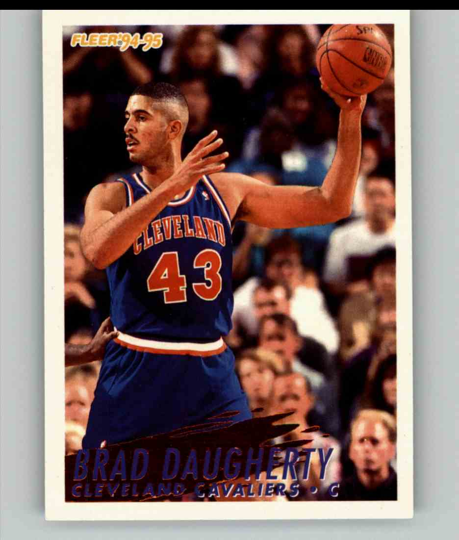 1994-95 Fleer Brad Daugherty #39 card front image