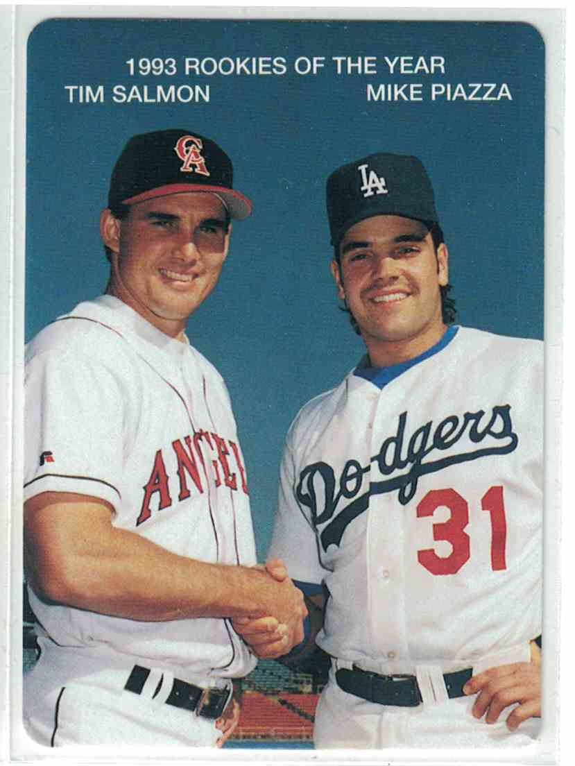 1994 Mothers Cookies Tim Salmon Mike Piazza 1993 Roy39s 3 On