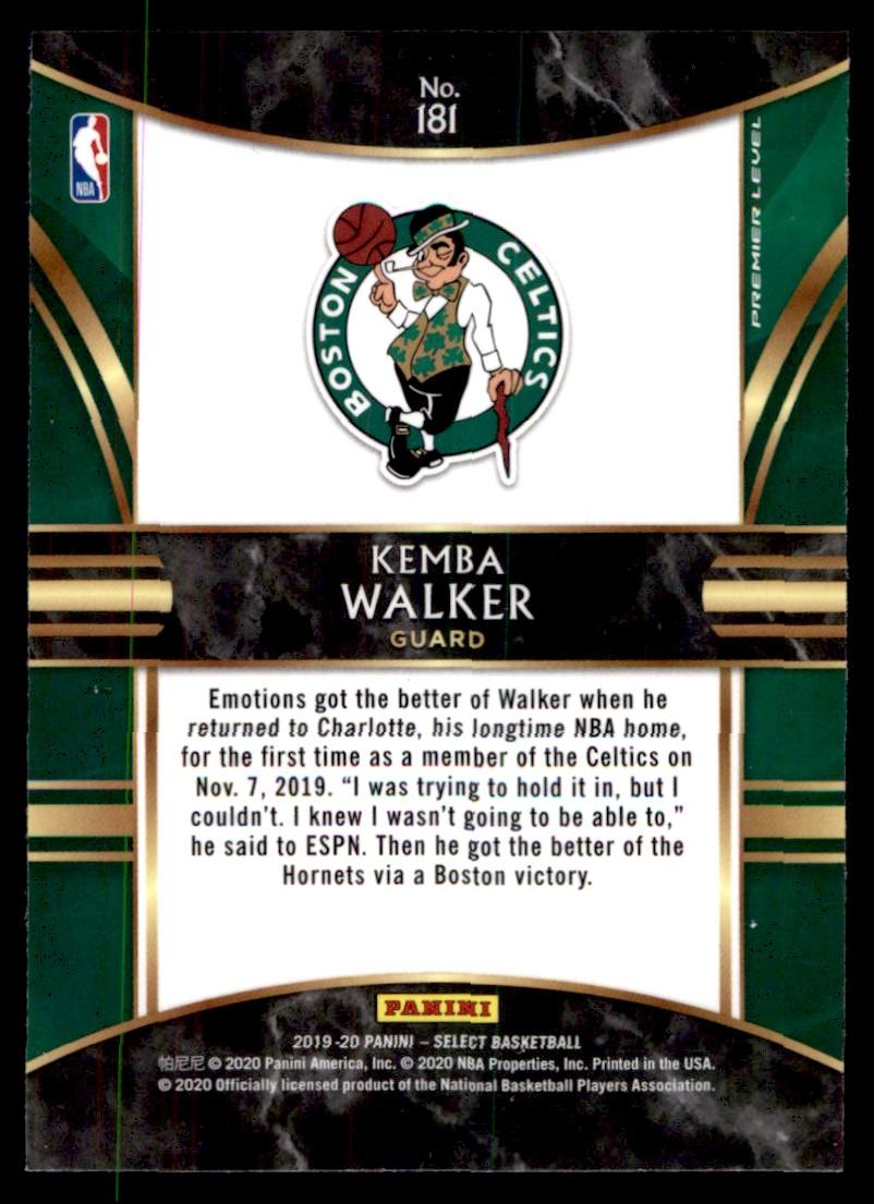 2019-20 Panini Select Kemba Walker #181 card back image
