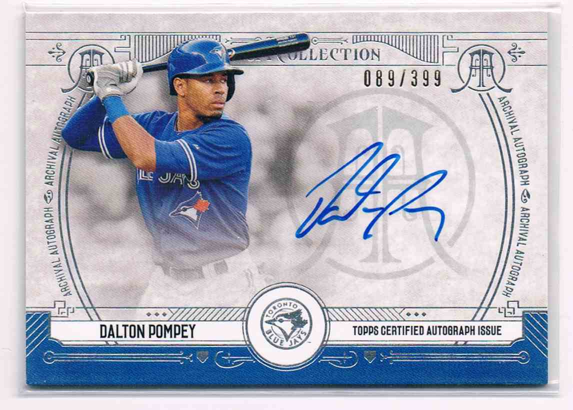 2015 Topps Museum Collection Dalton Pompey #AA-DPO card front image