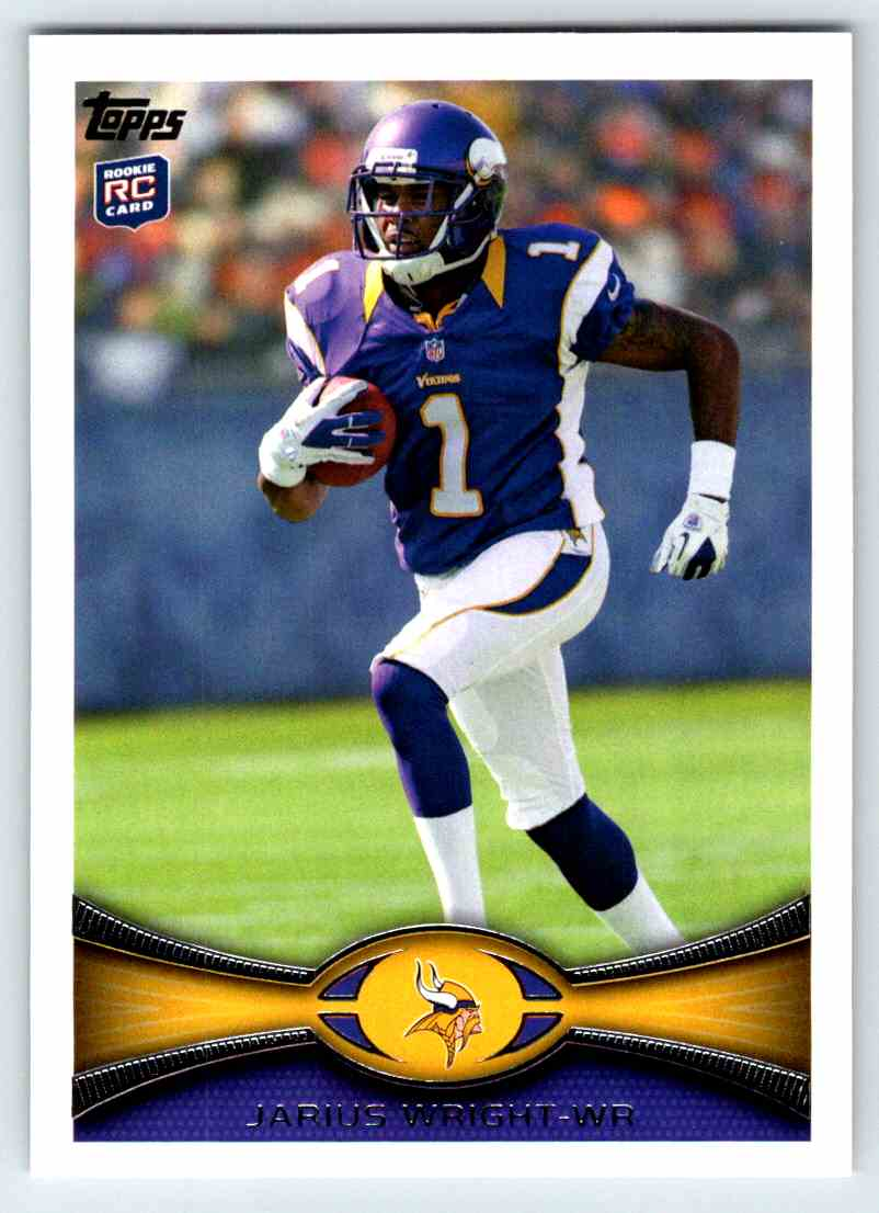 2012 Topps Jarius Wright #252 card front image