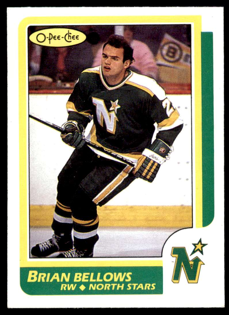 1986-87 OPC Brian Bellows #75 card front image