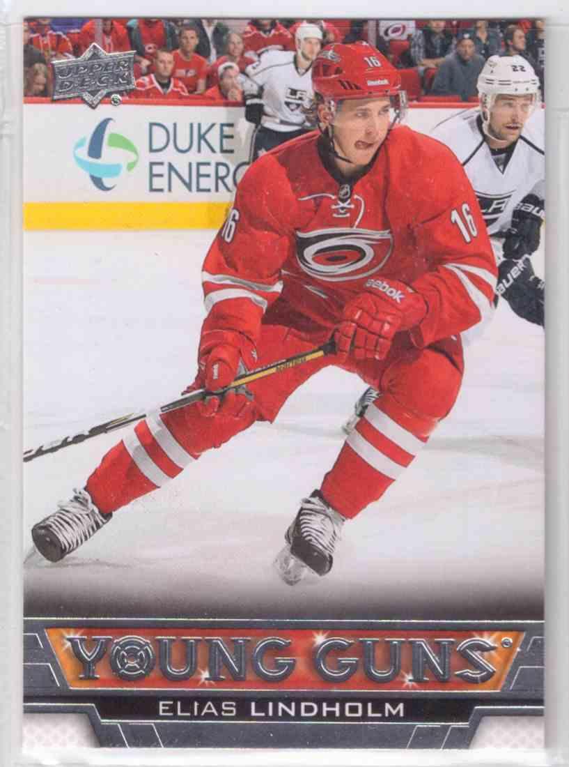 f850eef3e5b 2014-15 Upper Deck Young Guns Elias Lindholm #469 card front image