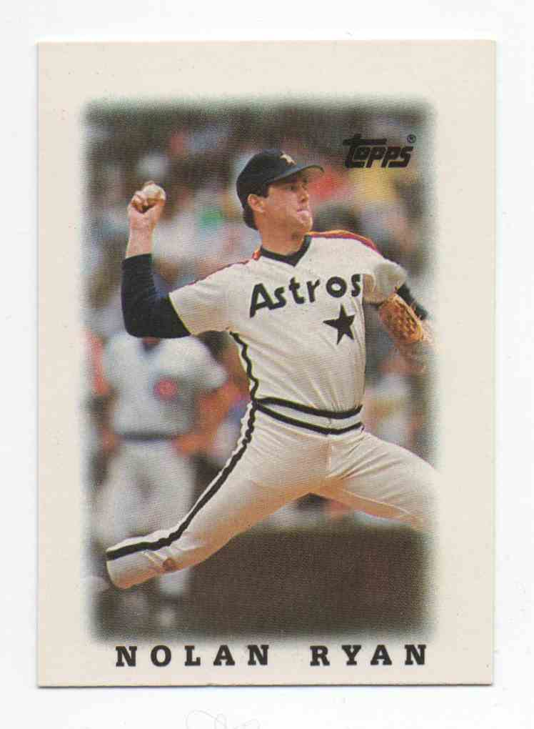 1988 Topps Mini Leaders Nolan Ryan #50 card front image