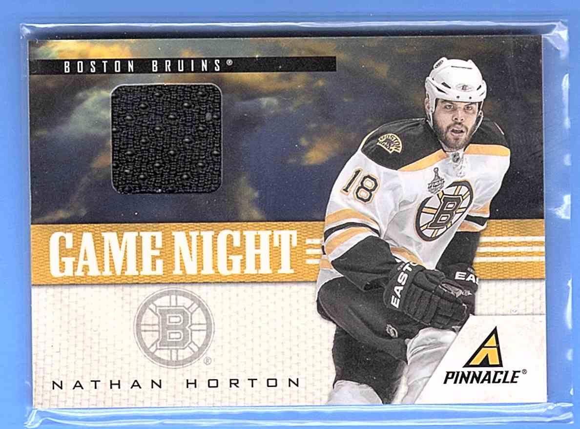 2011-12 Pinnacle Game Night Materials Nathan Horton #15 card front image