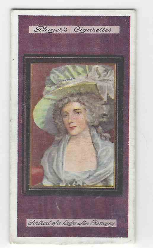 1923 Player's Miniatures Portait Of A Lady #11 card front image
