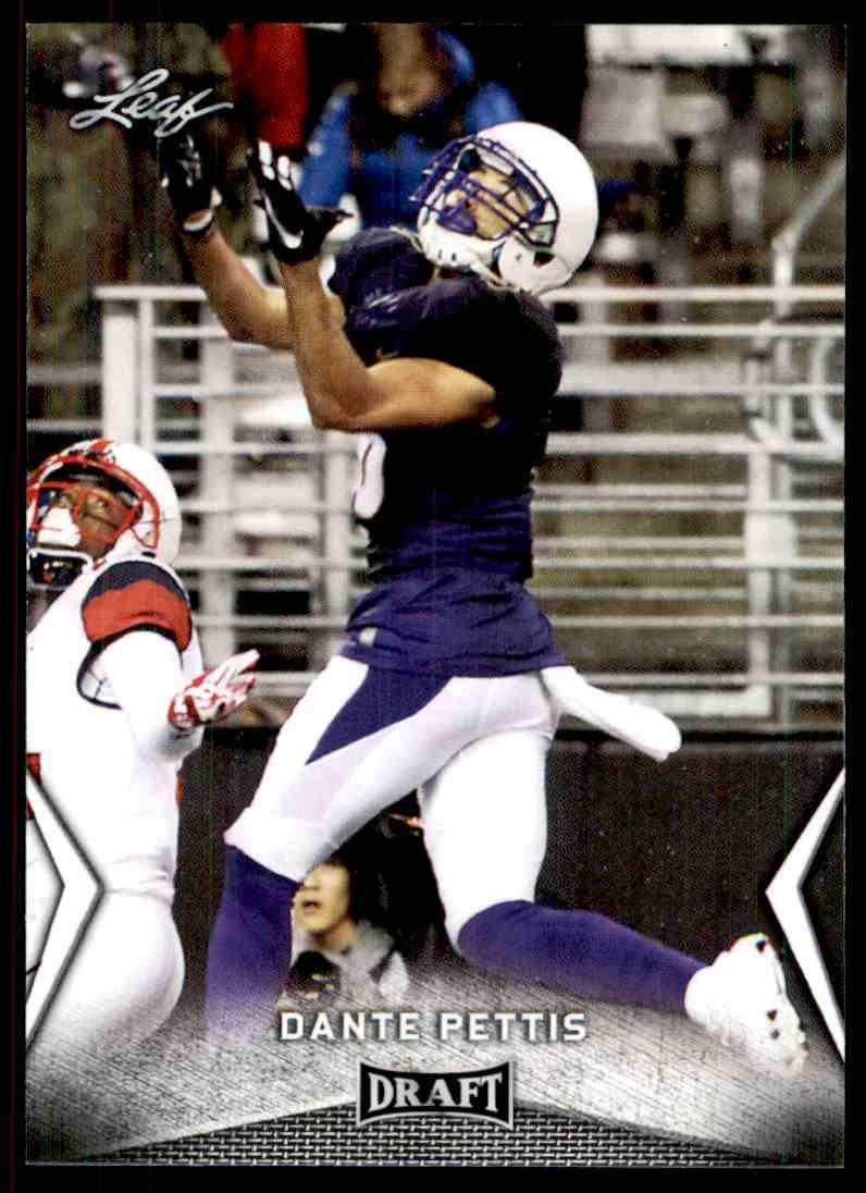 2018 Leaf Draft Dante Pettis #15 card front image