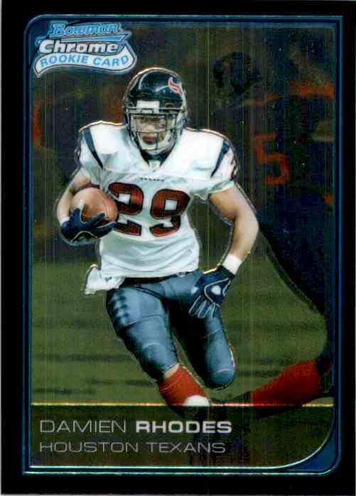 2006 Bowman Chrome Damien Rhodes RC #34 card front image