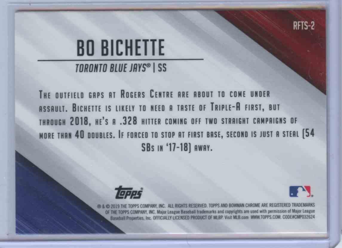 2019 Bowman Chrome Ready For The Show Bo Bichette #2A card back image
